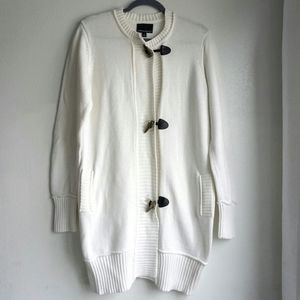Cynthia Rowley cream sweater with metal buttons